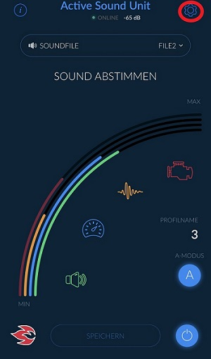 Einstellung Active Sound App 11